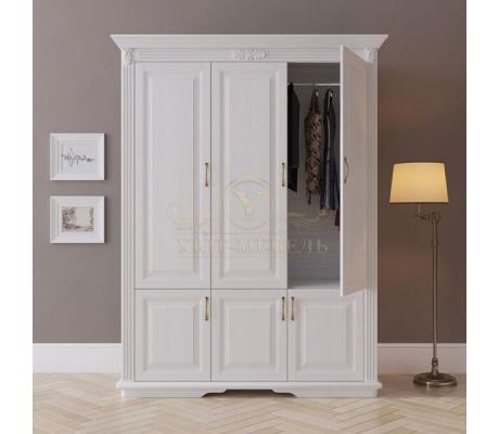 Шкаф 3 створчатый из массива Палермо дверцы внизу