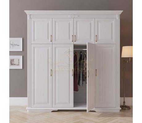Шкаф 4 створчатый из массива Палермо дверцы сверху
