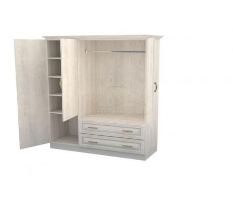 Шкаф 3 створчатый из массива Эдем с ящиками