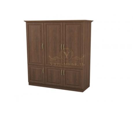 Шкаф 3 створчатый из массива Эдем дверцы внизу