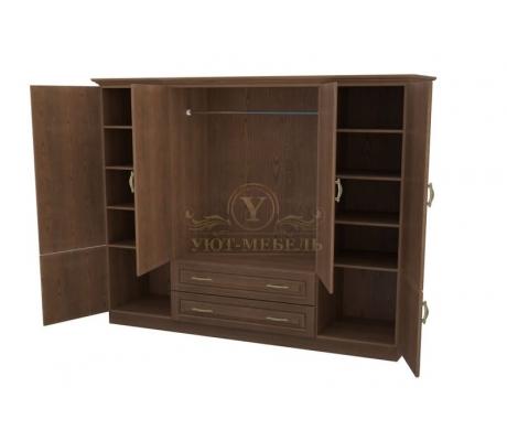 Шкаф 4 створчатый из массива Эдем с ящиками
