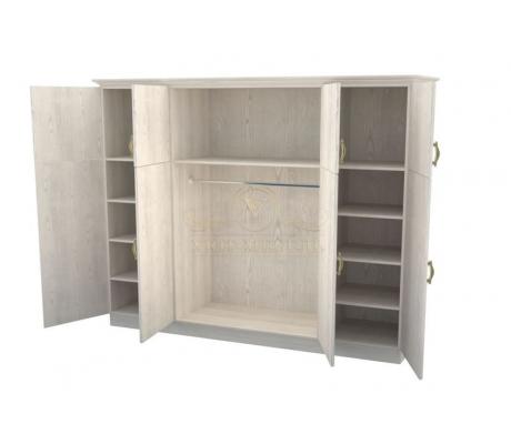 Шкаф 4 створчатый из массива Эдем дверцы вверху