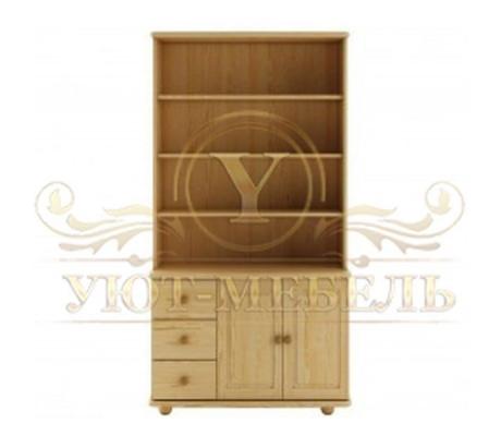 Книжный шкаф из массива Витязь 108