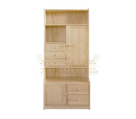 Книжный шкаф из массива Витязь 112