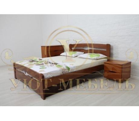 Деревянная двуспальная кровать из массива Бейли 2