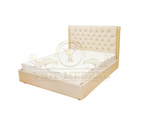 Деревянная двуспальная кровать из массива Эвитта