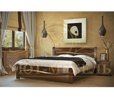 Деревянная односпальная кровать Лотос