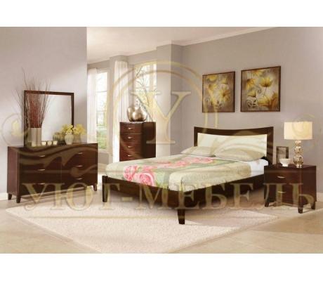 Деревянная двуспальная кровать из массива Луксор тахта