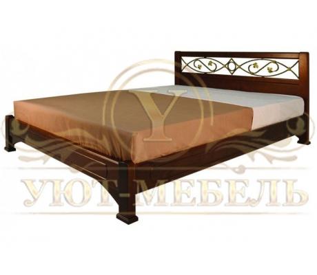 Купить полутороспальную кровать Омега с ковкой 3