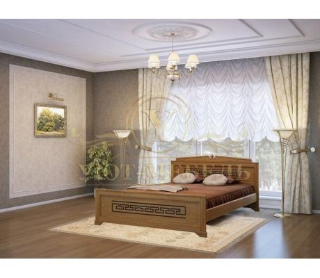 Деревянная двуспальная кровать из массива Афина