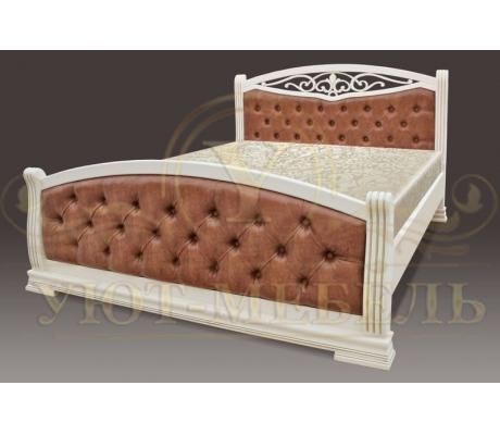 Деревянная двуспальная кровать из массива Джаспер