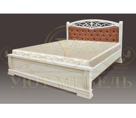 Деревянная двуспальная кровать из массива Джаспер тахта