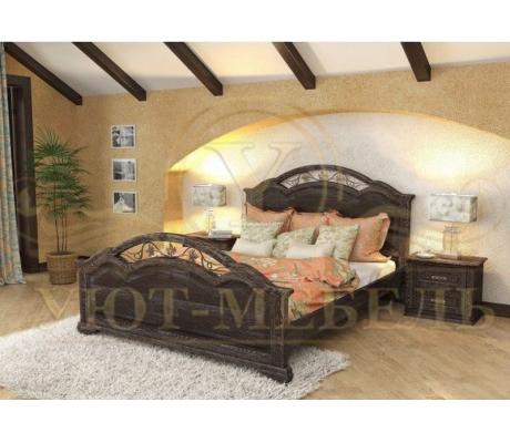 Деревянная односпальная кровать Лаура