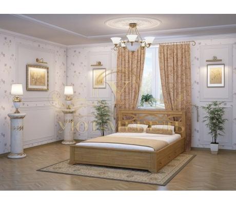 Деревянная двуспальная кровать из массива Лира тахта