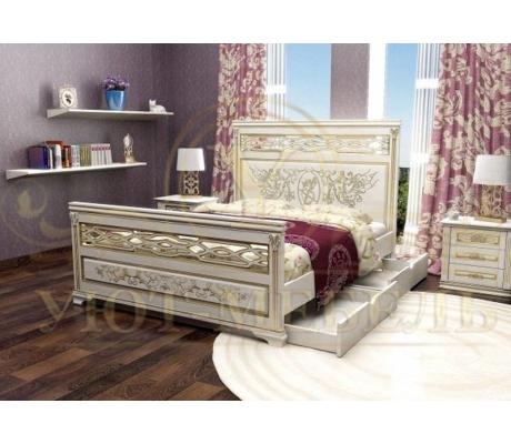 Деревянная односпальная кровать Лирона 3