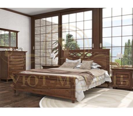 Деревянная односпальная кровать Мальта