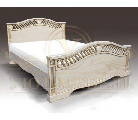 Деревянная двуспальная кровать из массива Мальта 2