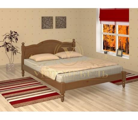 Деревянная двуспальная кровать из массива Мелодия тахта