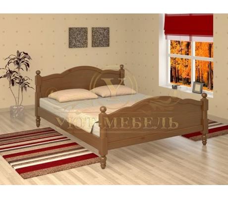 Деревянная двуспальная кровать из массива Мелодия