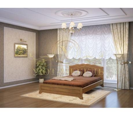 Деревянная двуспальная кровать из массива Муза тахта