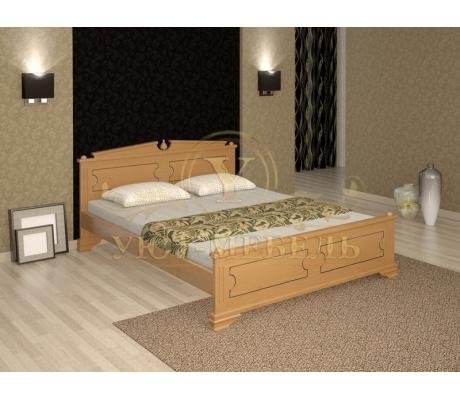 Деревянная двуспальная кровать из массива Нефертити