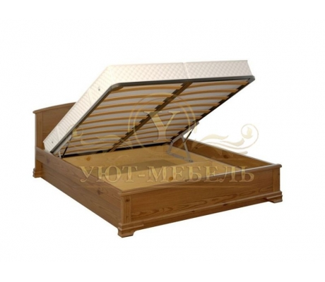 Кровать с подъемным механизмом из массива Нова тахта