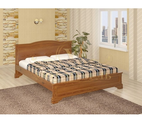 Деревянная двуспальная кровать из массива Октава тахта