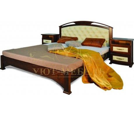 Деревянная односпальная кровать Омега сетка со вставкой