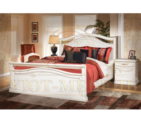 Деревянная двуспальная кровать из массива Портленд