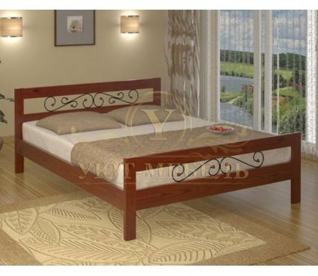 Деревянная двуспальная кровать из массива Рио