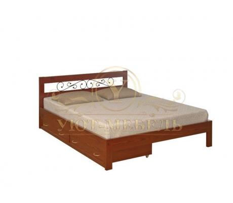 Деревянная двуспальная кровать из массива Рио тахта