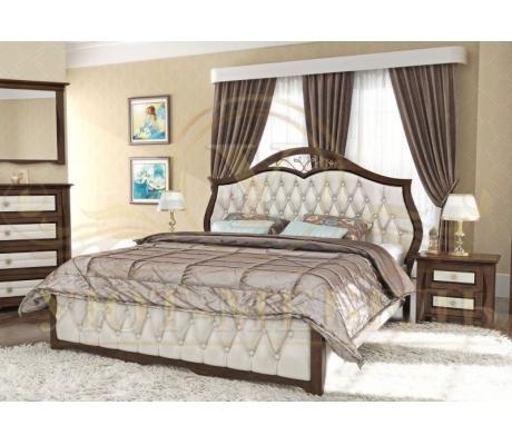 Деревянная односпальная кровать Ровелла