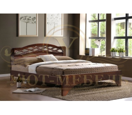 Деревянная двуспальная кровать из массива Сицилия тахта