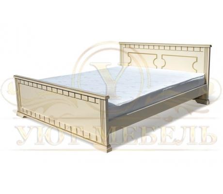 Деревянная двуспальная кровать из массива Симона