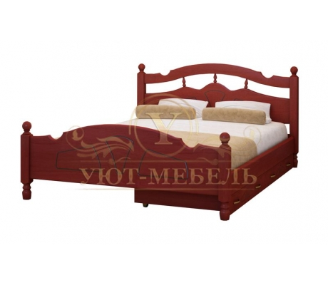Деревянная односпальная кровать Солнце