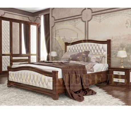 Купить полутороспальную кровать Соната 2 с мягкой вставкой