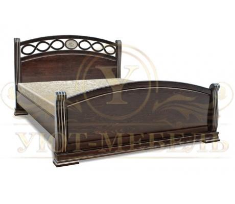 Деревянная двуспальная кровать из массива Спарта