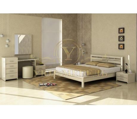 Деревянная двуспальная кровать из массива Стиль 4А