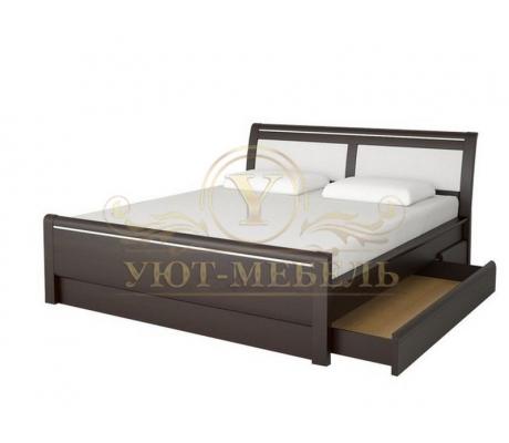 Деревянная двуспальная кровать из массива Стиль 6А
