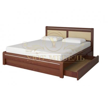Деревянная двуспальная кровать из массива Стиль 6А тахта