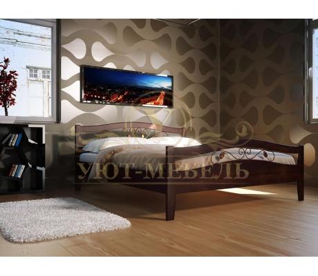 Деревянная двуспальная кровать из массива Талисман