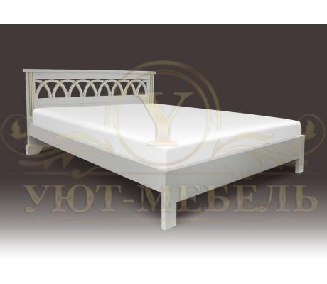 Деревянная двуспальная кровать из массива Валенсия