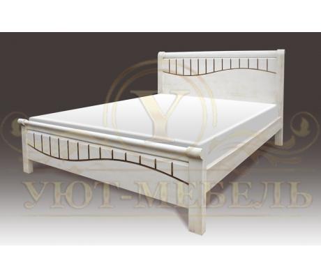 Деревянная двуспальная кровать из массива Харви