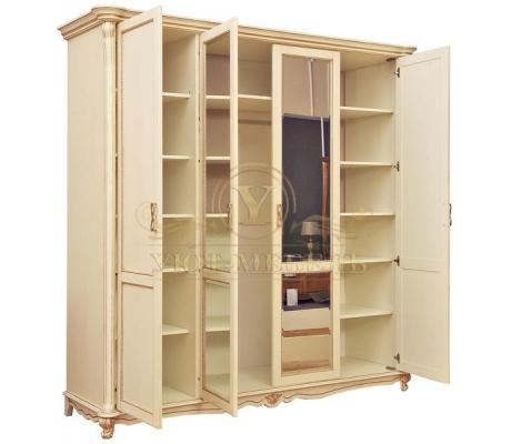 Шкаф из массива 4 створчатый Алези