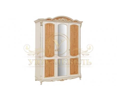 Шкаф из массива 3 створчатый Альба Люкс