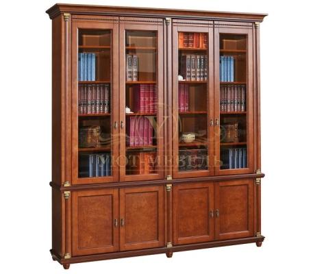 Книжный шкаф из массива 4 створчатый Валенсия
