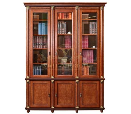 Книжный шкаф из массива 3 створчатый Валенсия