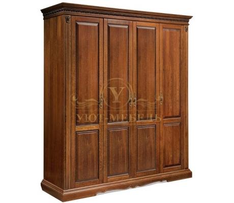 Шкаф из массива 4 створчатый Милано 2