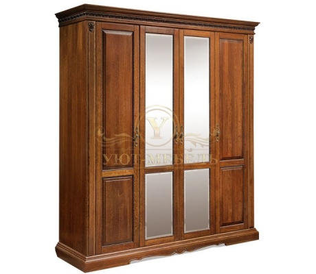 Шкаф из массива 4 створчатый Милано 1