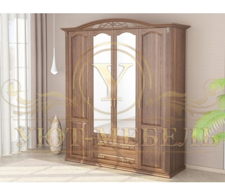 Шкаф из массива 4 створчатый Венеция